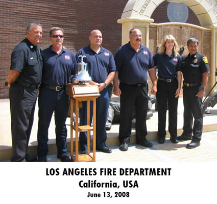 Photo of Mission Kickoff Ceremony at Los Angeles Fire Department